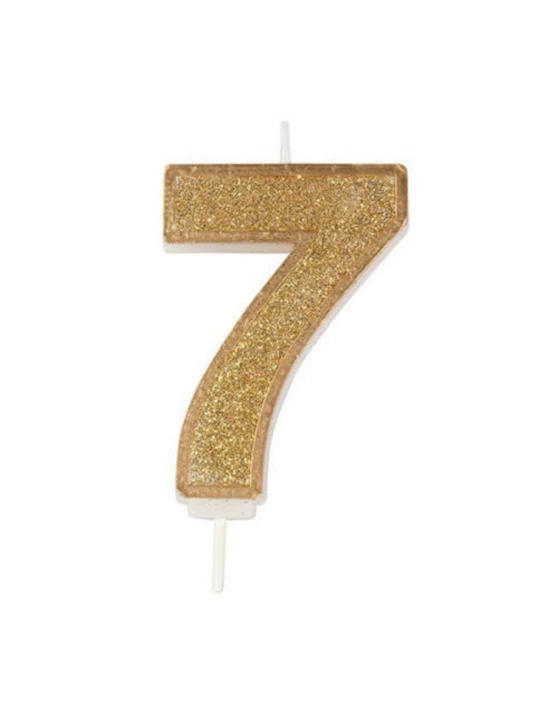 """Culpitt Kaars - goud - cijfer """"7"""""""