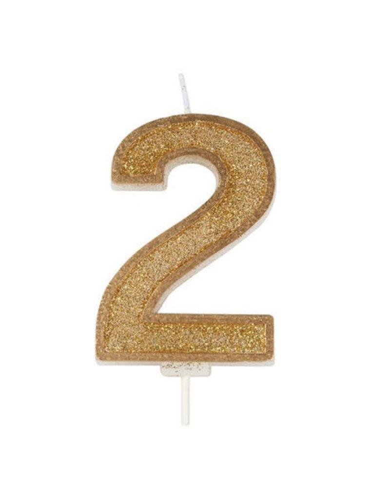 """Culpitt Kaars - goud - cijfer """"2"""""""
