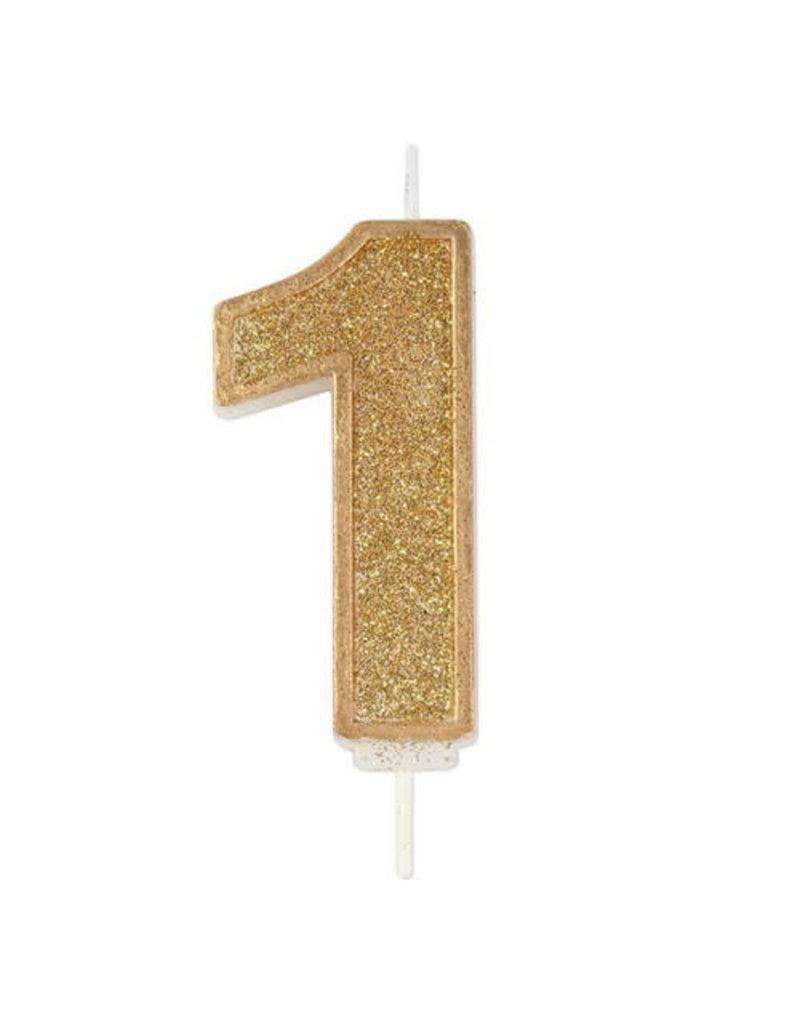 """Culpitt Kaars - goud - cijfer """"1"""""""