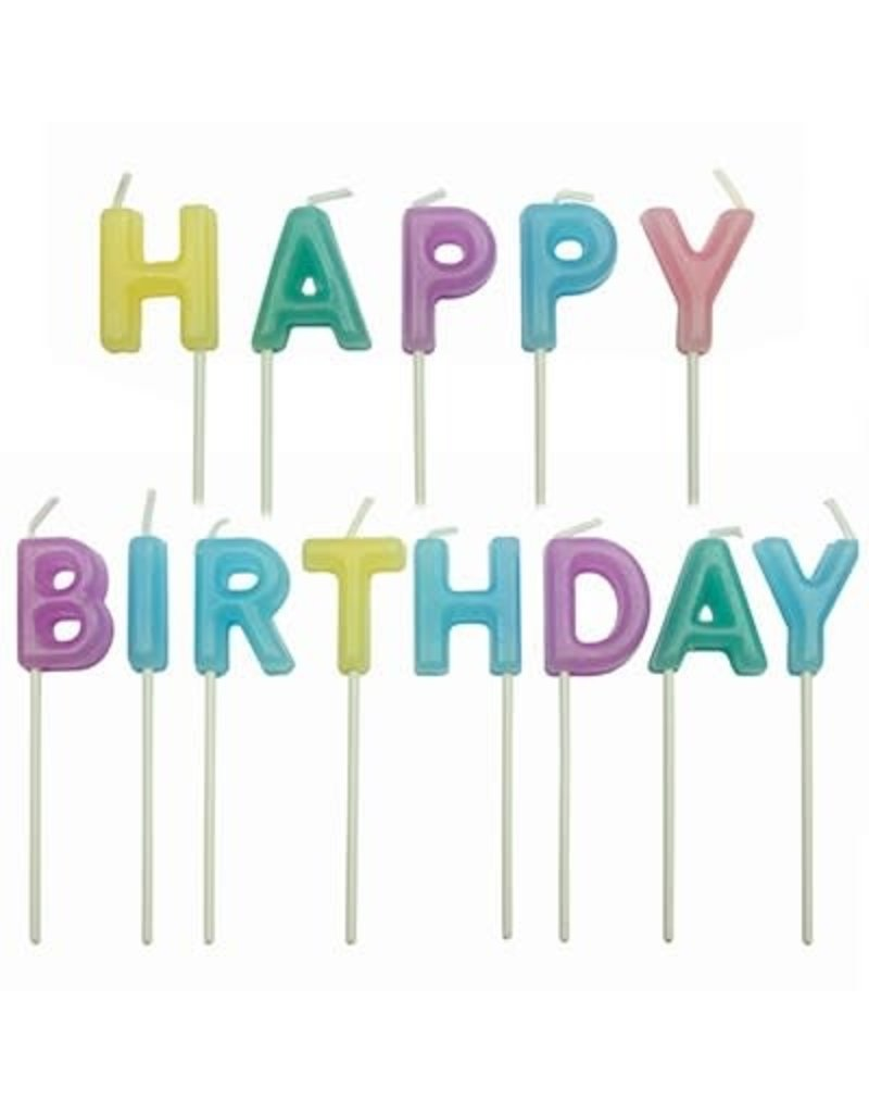 PME Taartkaarsjes Happy birthday set/13 PASTEL