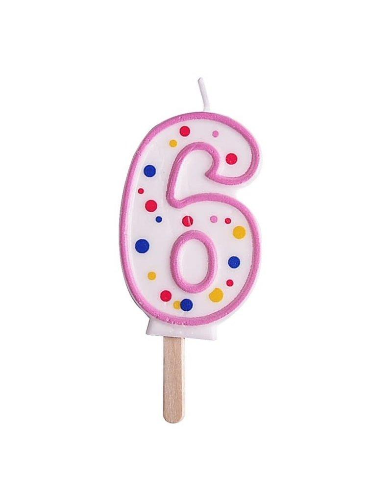PME Cijferkaars #6 roze