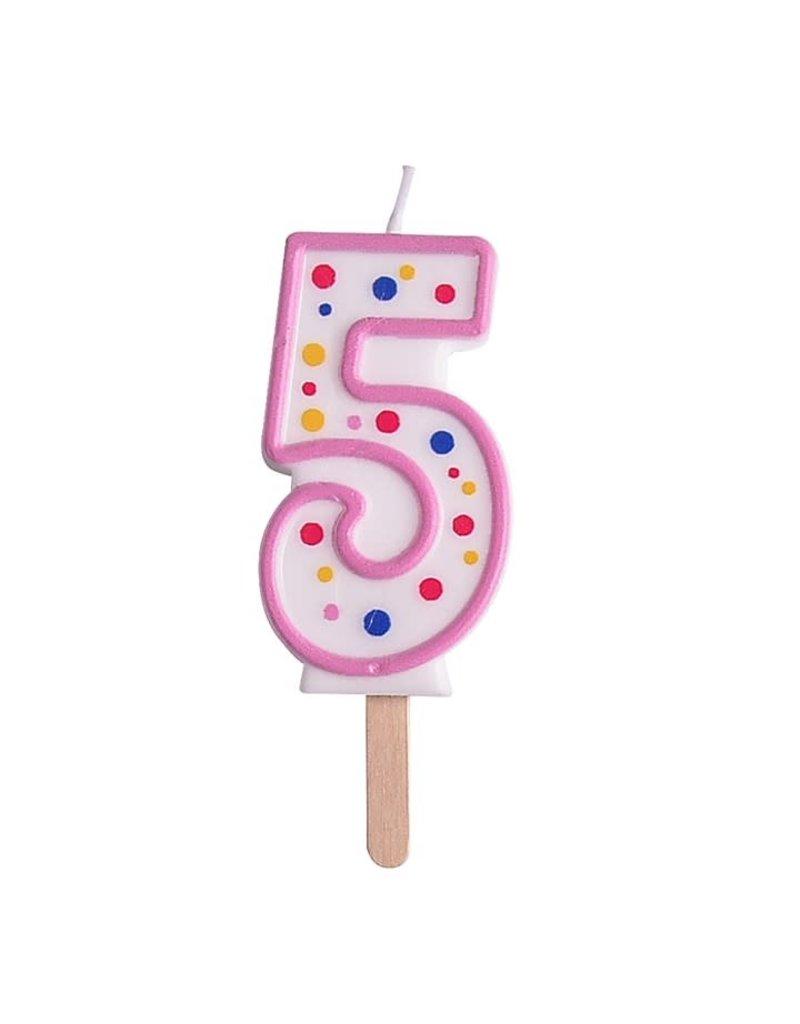 PME Cijferkaars #5 roze