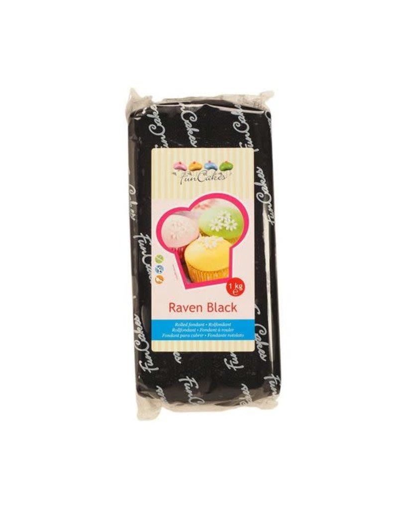 Funcakes Fondant 1kg raven black