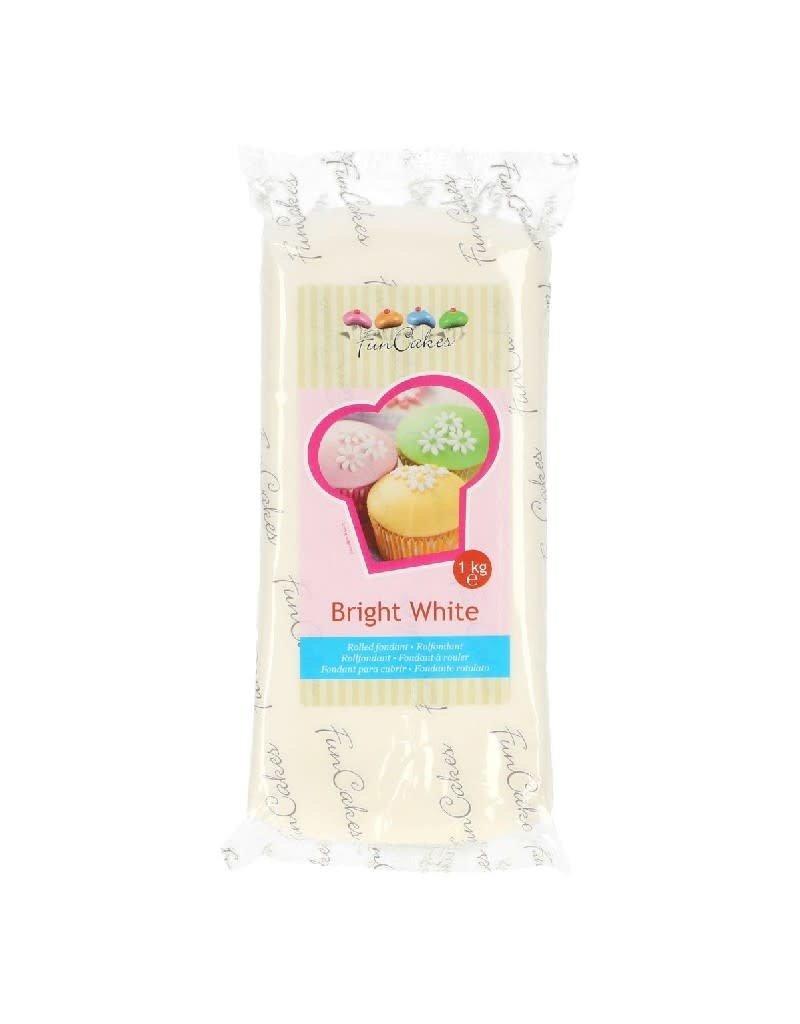 Funcakes Fondant 1kg bright white