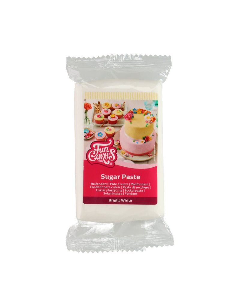 Funcakes Fondant 250g bright white