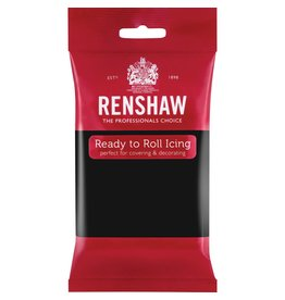 Renshaw Rolfondant 250g zwart