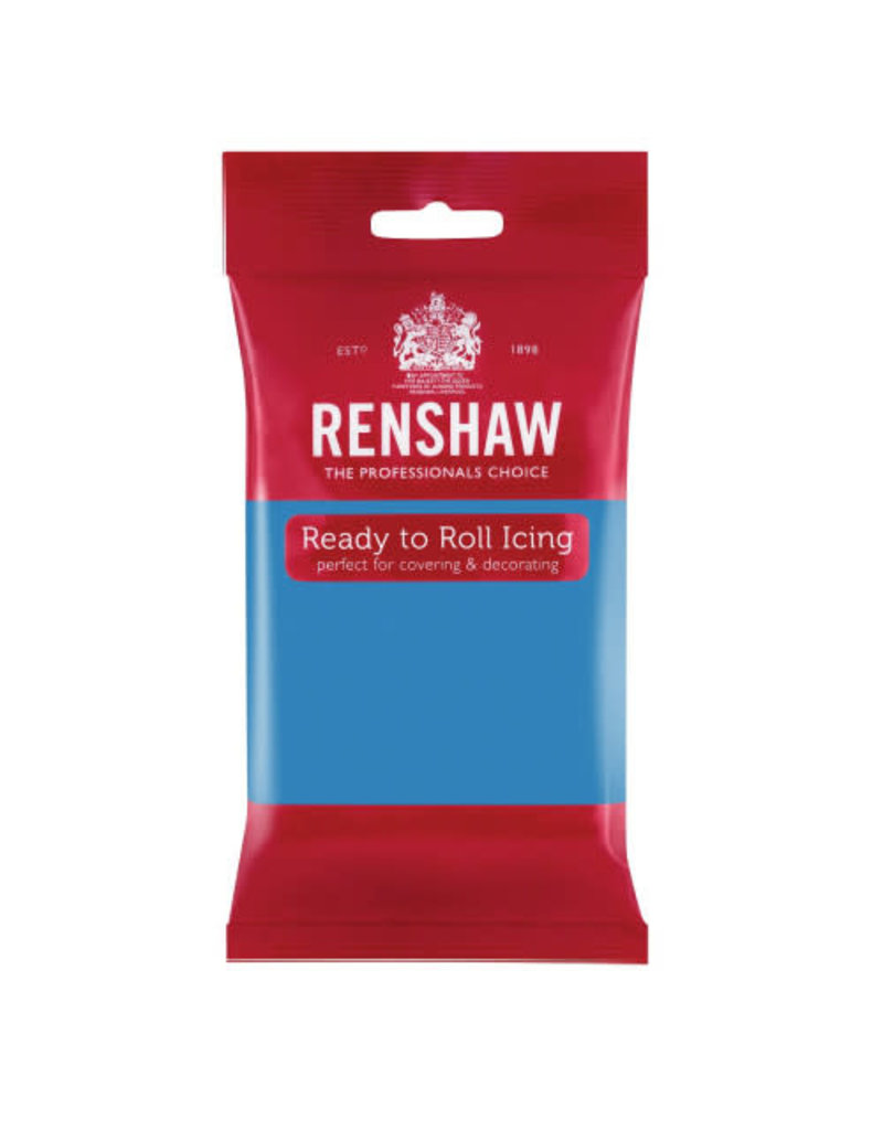 Renshaw Rolfondant 250g turkoois blauw