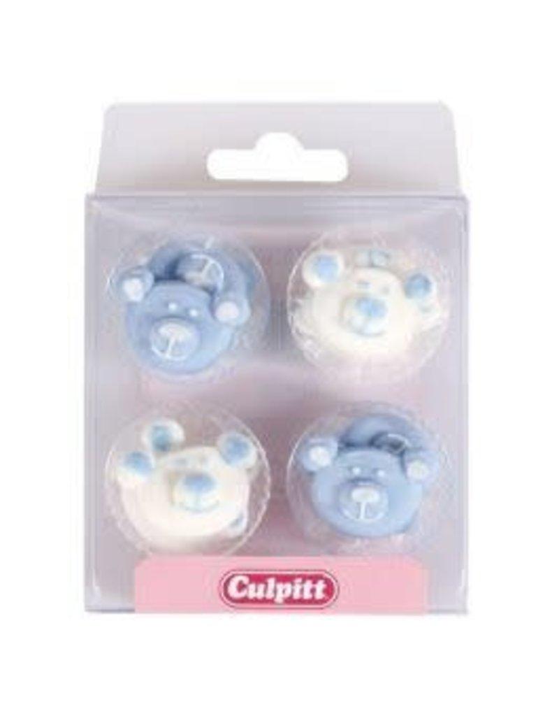 Culpitt Suikerdecoratie beertjes blauw