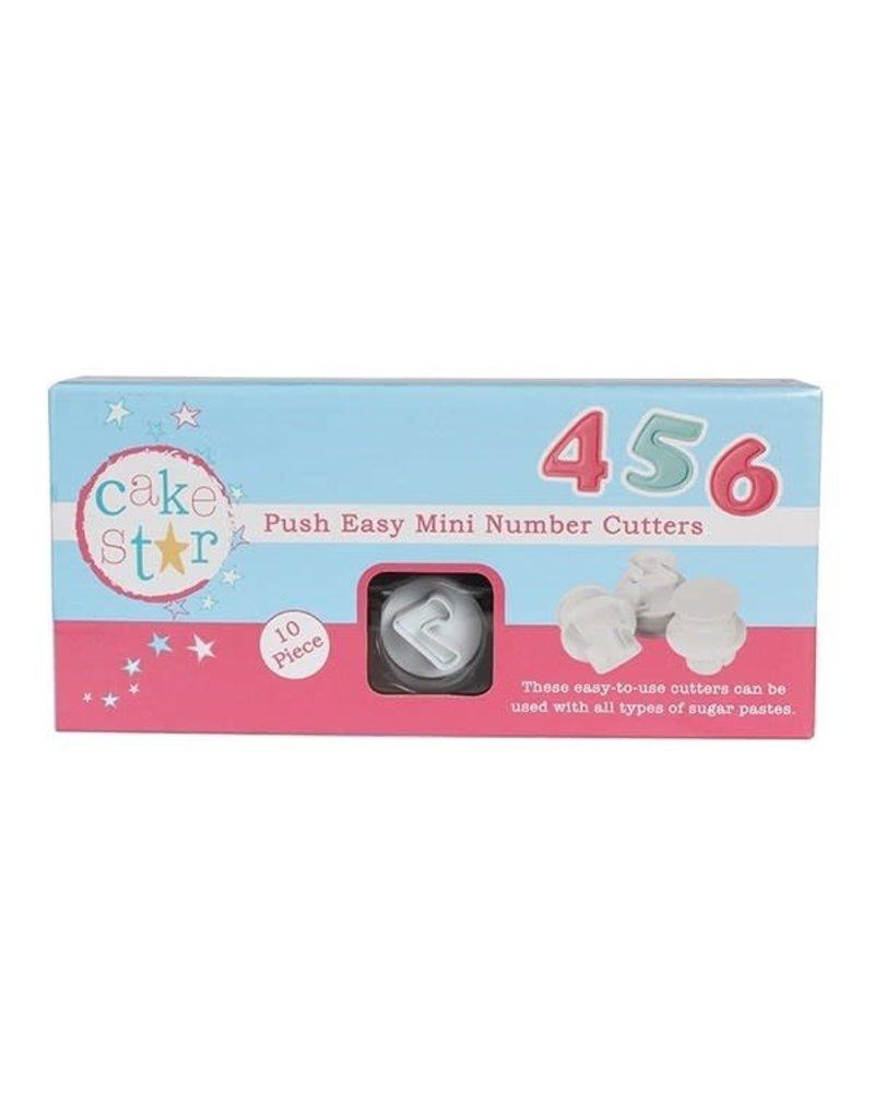 Cake Star Plunger cutter - Cijfers - Mini