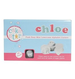 Cake Star Plunger cutter - Kleine letters - Mini