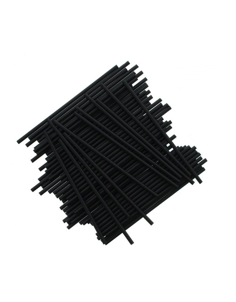 2. Sweet Store Stokjes zwart 15cm - 25 stuks