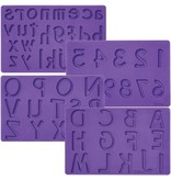Wilton Siliconen mold letters en cijfers