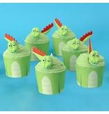 PME Cupcake kit - Dinosaurus 6st