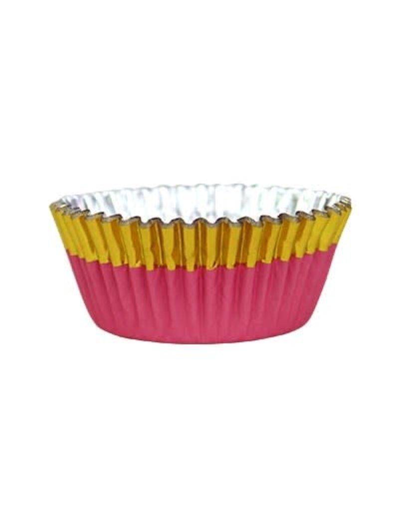 PME Cupcake cups - folie - goud/roze  - 30st