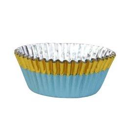 PME Cupcake cups - folie - goud/blauw  - 30st