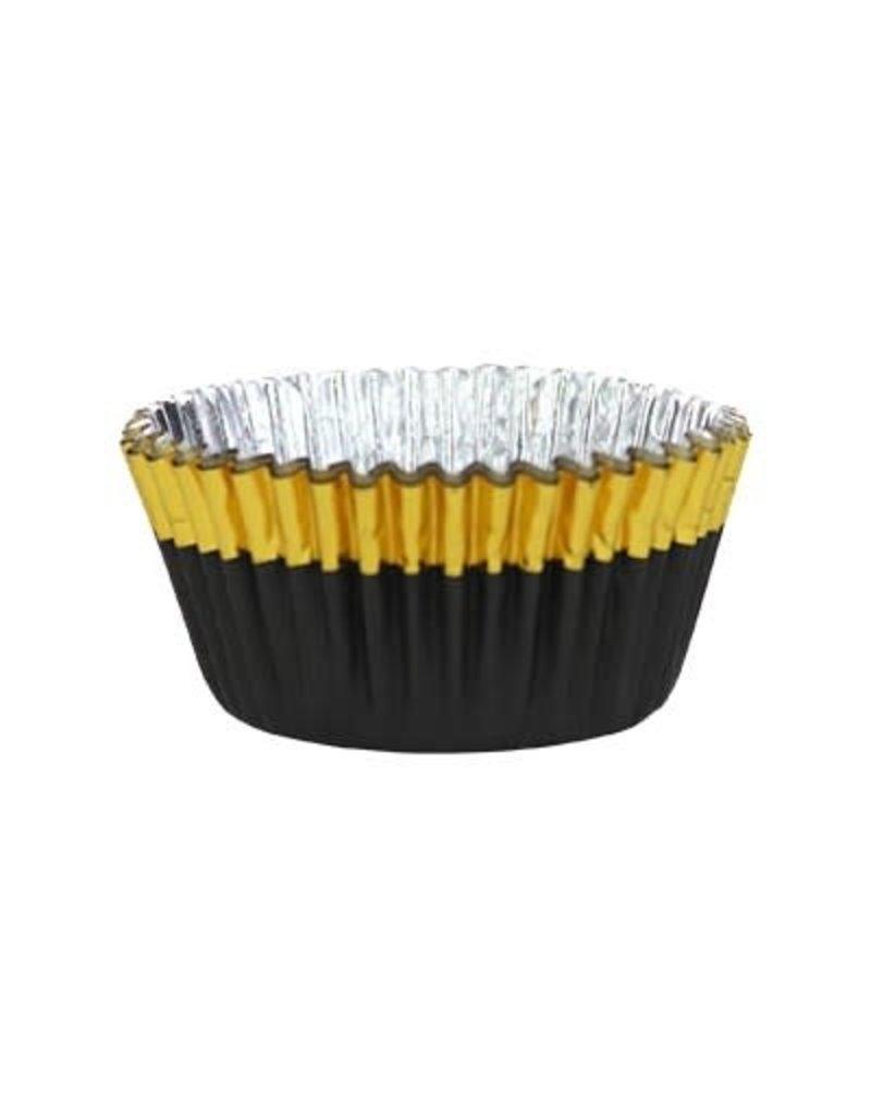 PME Cupcake cups - folie - goud/zwart  - 30st