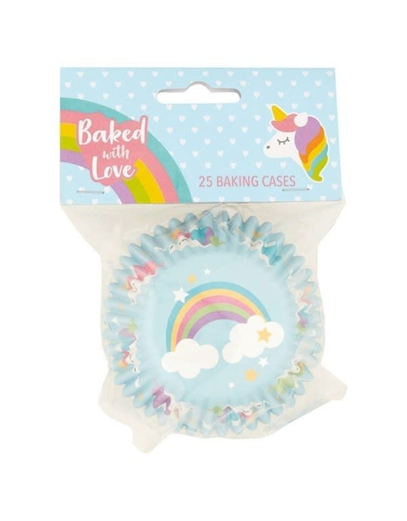 Baked with Love Cupcake cups - folie - unicorn  - 25st