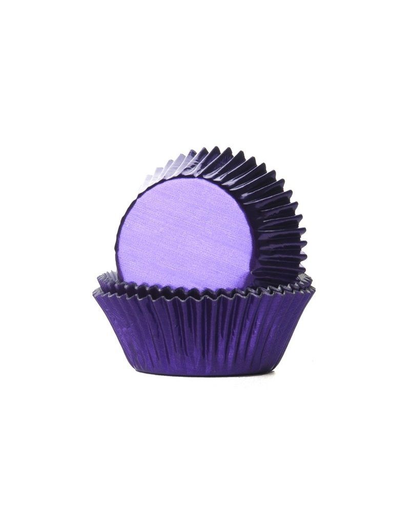 House Of Marie Cupcake cups - folie - paars  - 24st