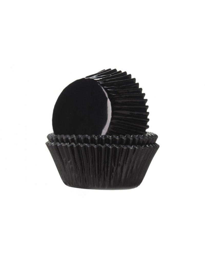 House Of Marie Cupcake cups - folie - zwart - 24st