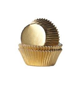 House Of Marie Cupcake cups - folie - goud - 24st