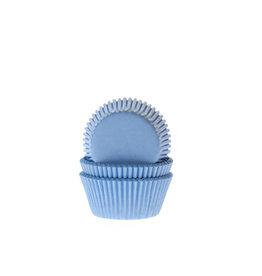 House Of Marie Cupcake cups - mini - licht blauw - 60st