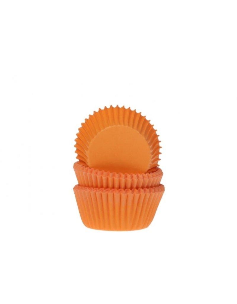 House Of Marie Cupcake cups - mini - oranje - 60st