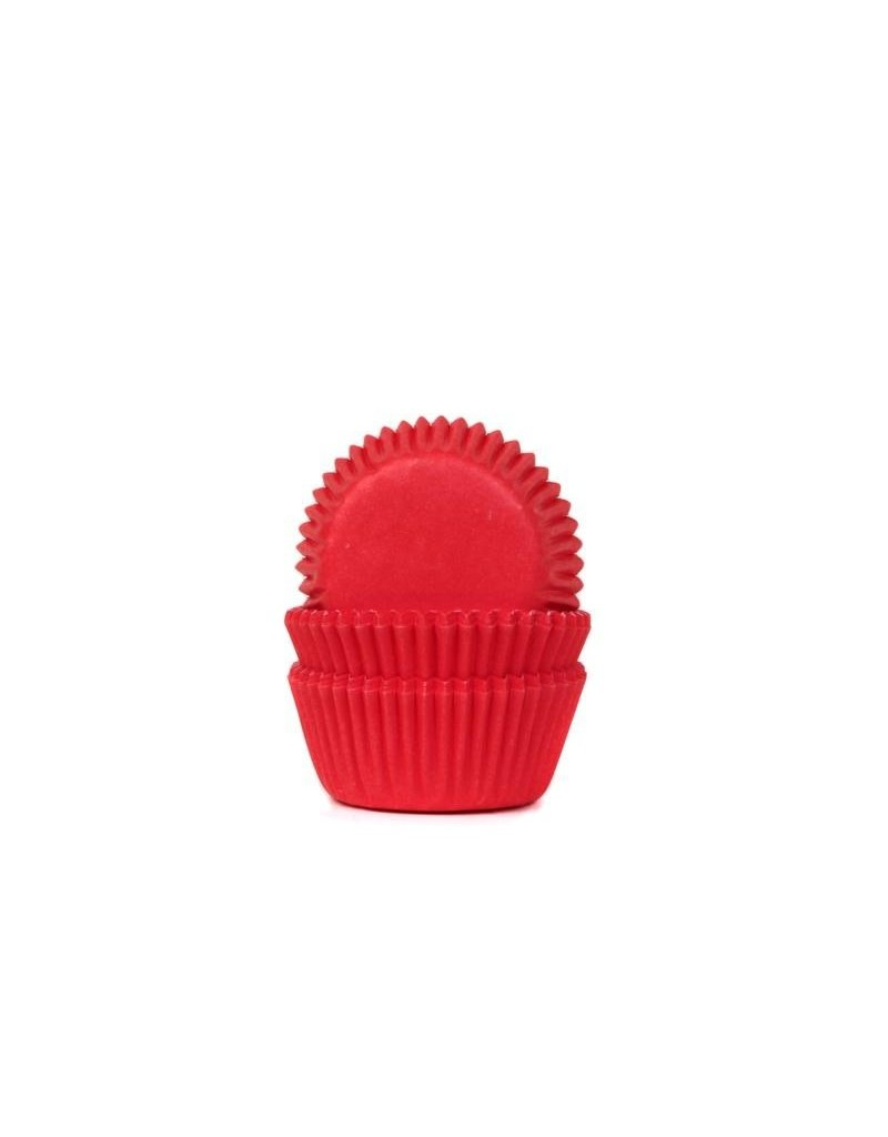 House Of Marie Cupcake cups - mini - rood - 60st