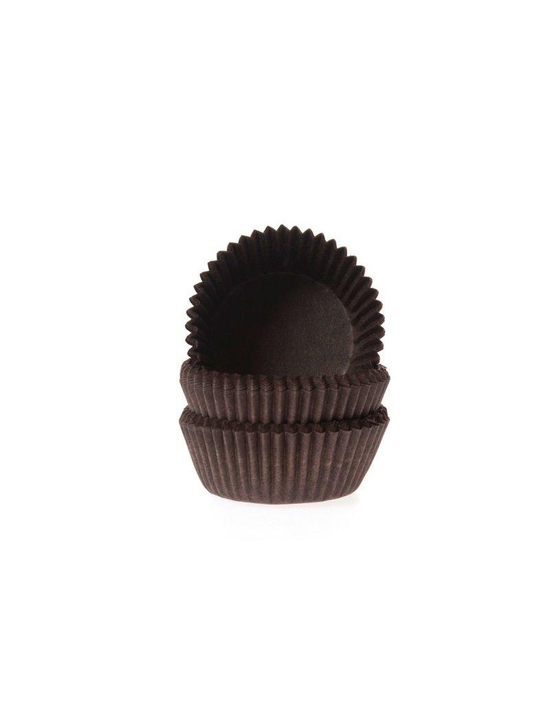House Of Marie Cupcake cups - mini - bruin - 60st