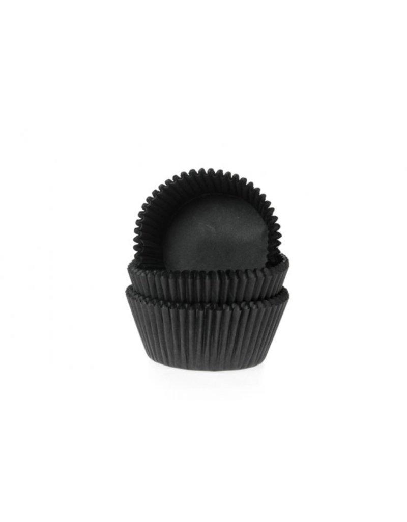 House Of Marie Cupcake cups - mini - zwart - 490st