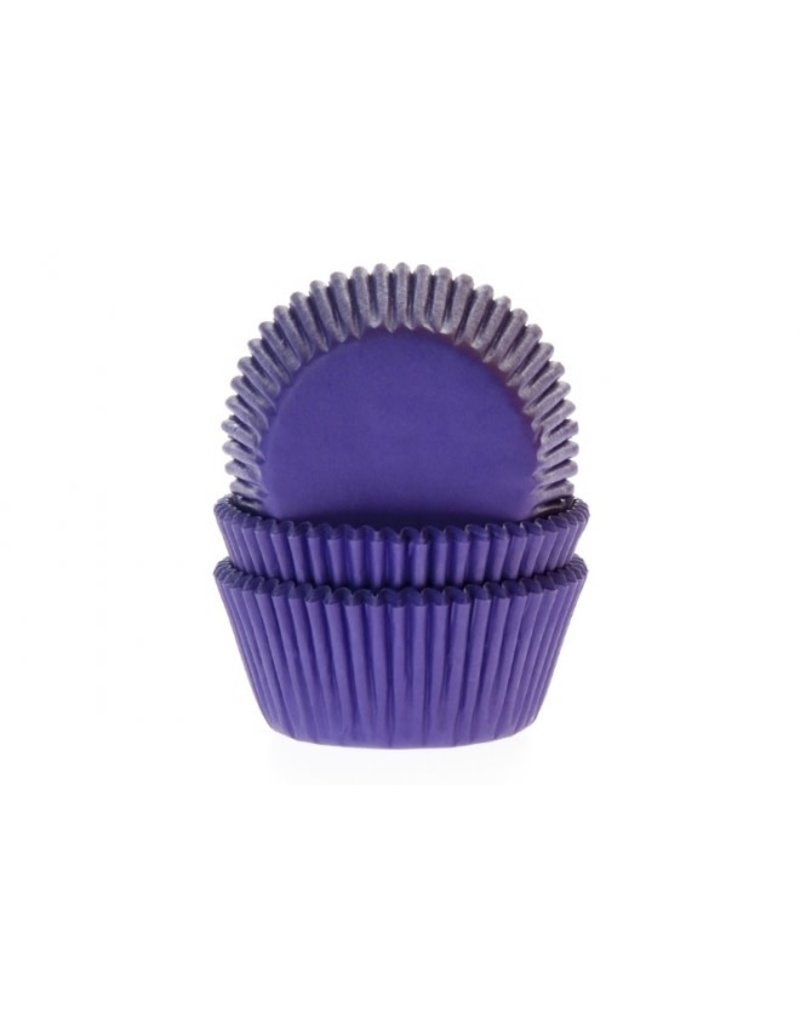 House Of Marie Cupcake cups - paars - 50st