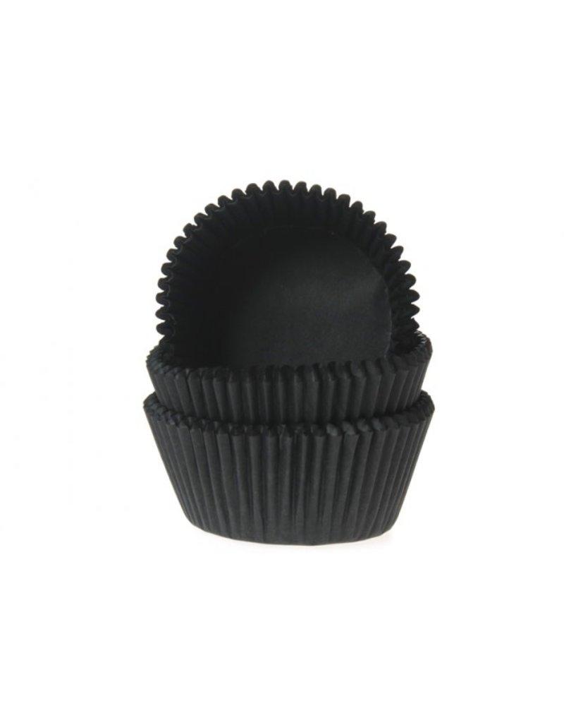 House Of Marie Cupcake cups - zwart - 50st