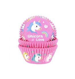 House Of Marie Cupcake cups - unicorn - 50st