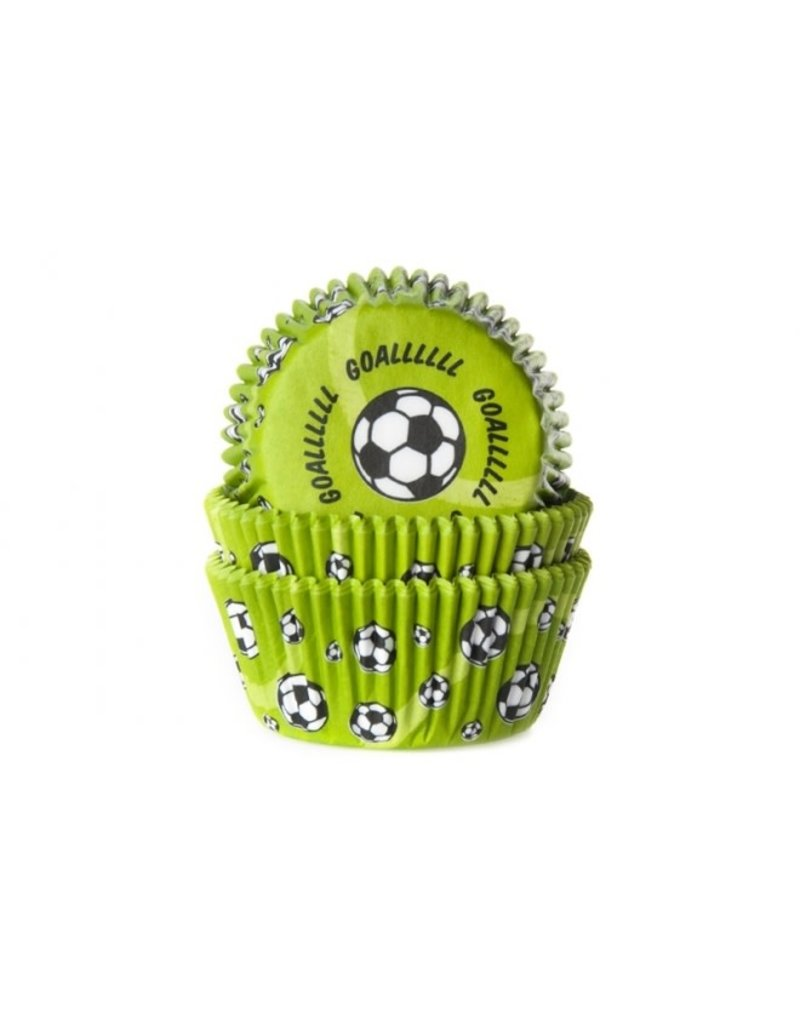 House Of Marie Cupcake cups - voetbal - 50st