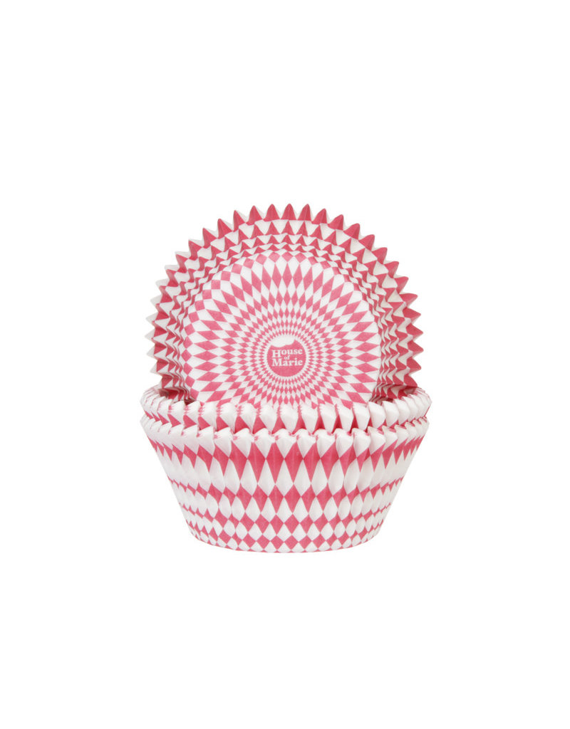 House Of Marie Cupcake cups - harlequino rood - 50st
