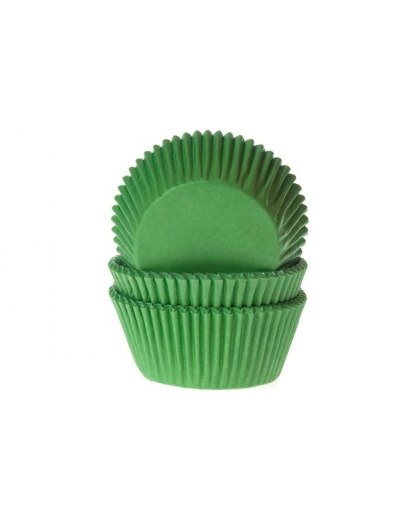 House Of Marie Cupcake cups - groen - 50st