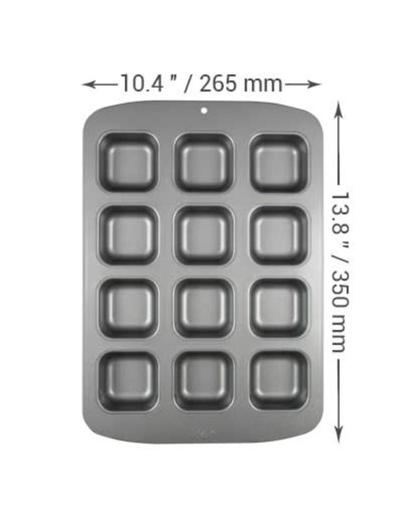 PME Bakvorm - Mini vierkant 12st