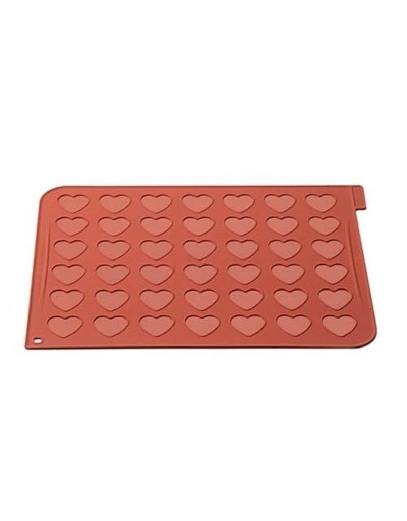 SilikoMart Bakmat - Siliconen - macarons hart (42)