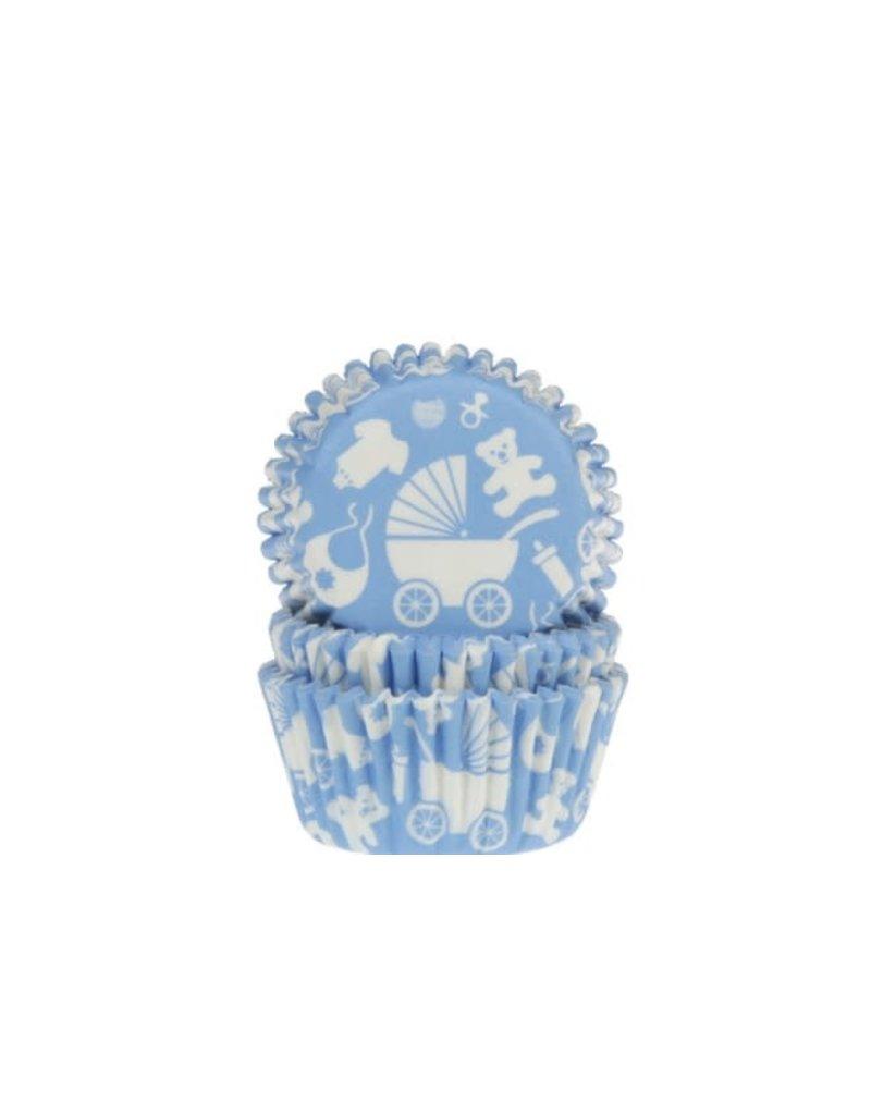 House Of Marie Cupcake cups - geboorte blauw - 50st