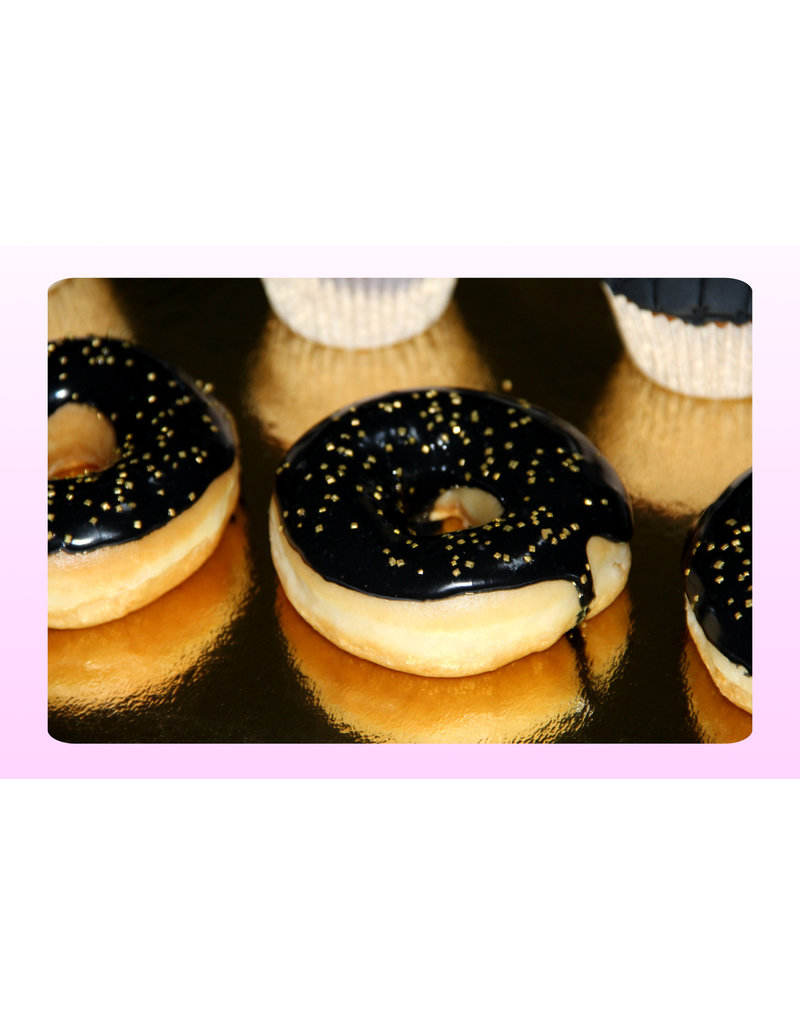 1. Sweet Planet Black & Gold donuts