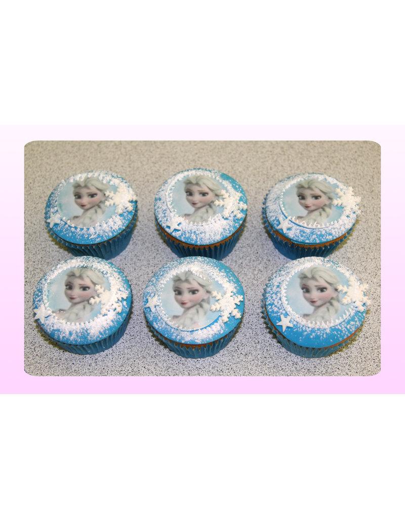 1. Sweet Planet Frozen - Elsa cupcakes