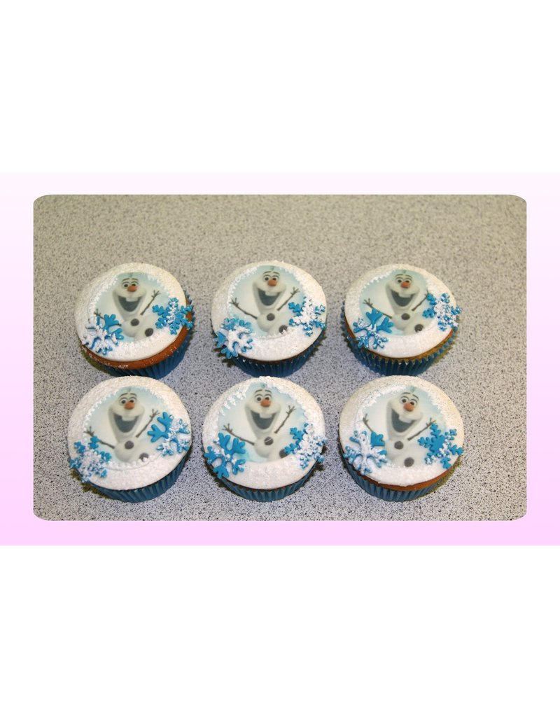 1. Sweet Planet Frozen - Olaf cupcakes