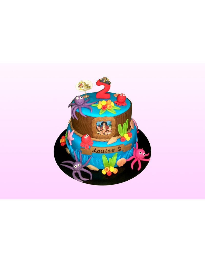 1. Sweet Planet Piet Piraat taart model 3