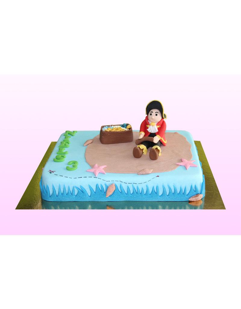 1. Sweet Planet Piraat taart model 1
