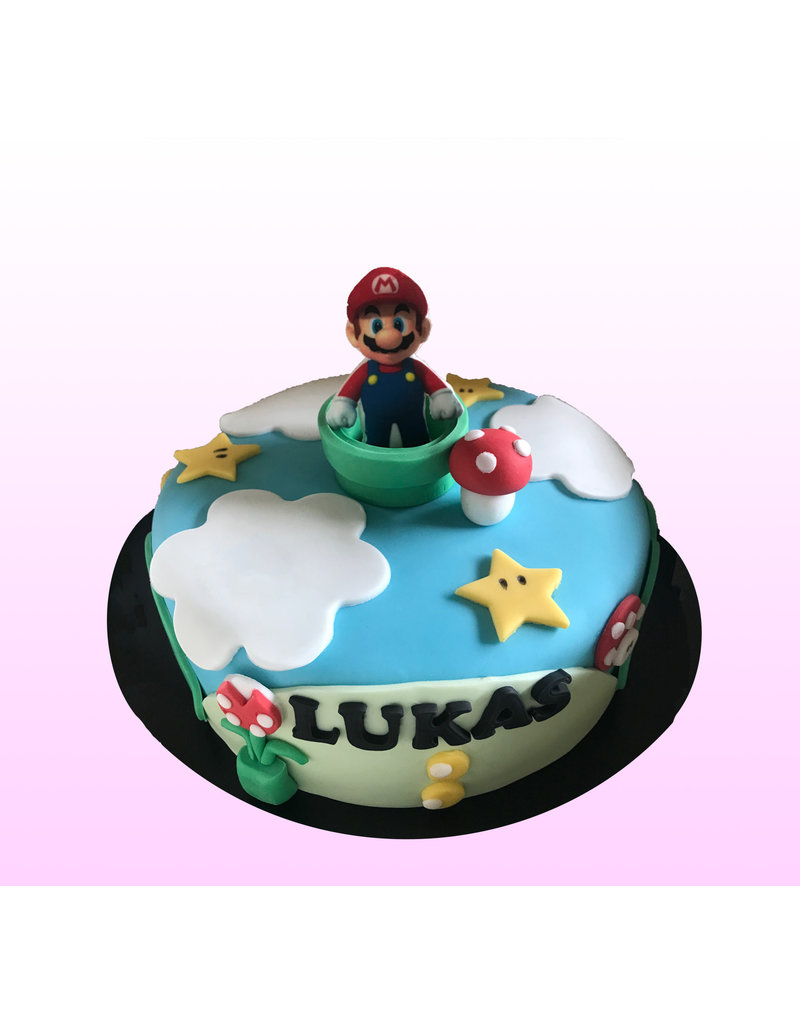 1. Sweet Planet Mario taart model 1