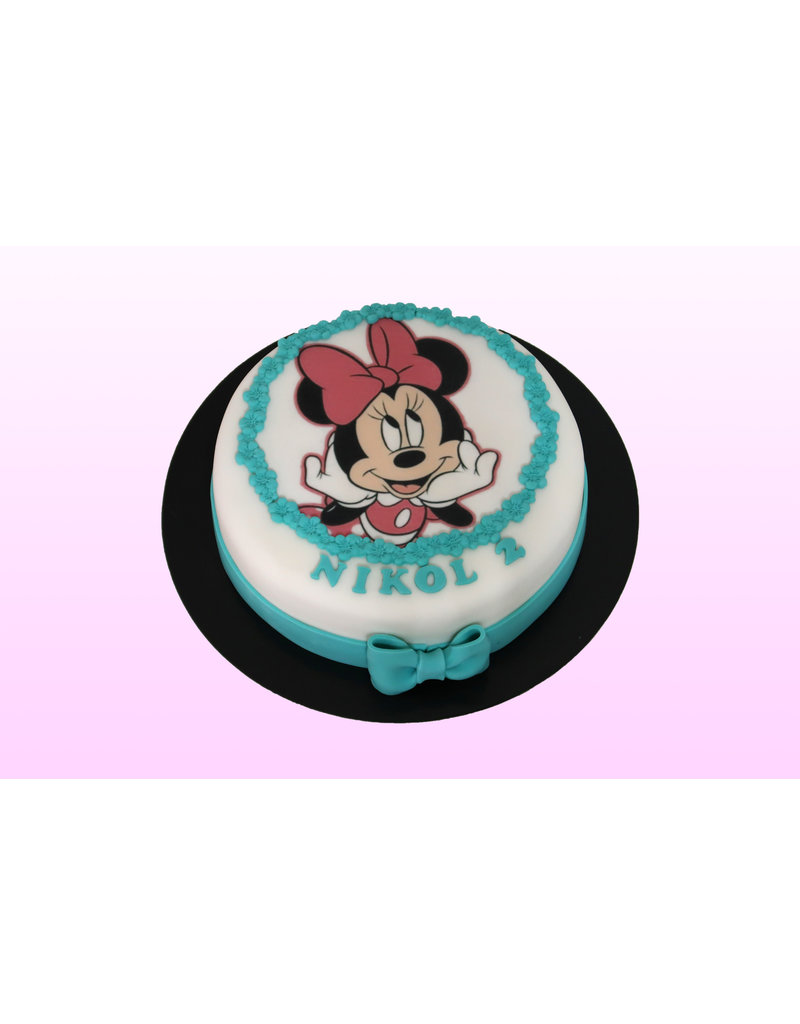 1. Sweet Planet Minnie Mouse taart model 1
