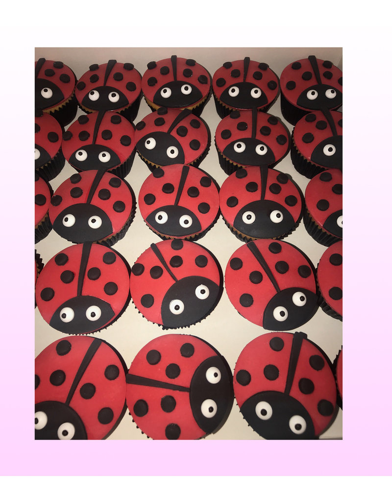 1. Sweet Planet Lieveheersbeestje cupcakes