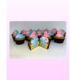 1. Sweet Planet Gender reveal cupcakes model 1
