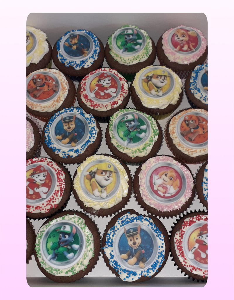 1. Sweet Planet Paw Patrol cupcakes