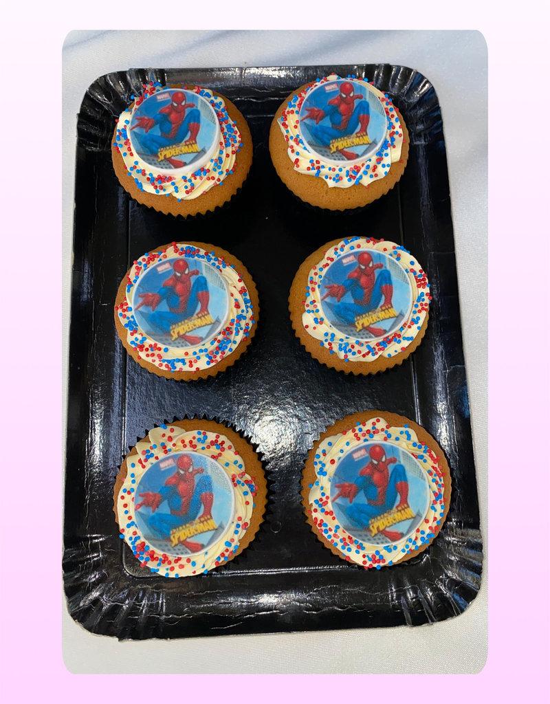 1. Sweet Planet Spiderman cupcakes model 2
