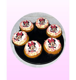 1. Sweet Planet Minnie mouse cupcakes model 1